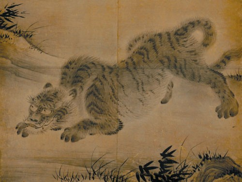 Kano Eitoku Tiger in a bamboo grove