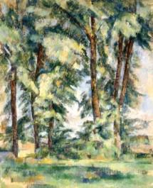 Grands arbres au Jas de Bouffan_Paul Cezanne