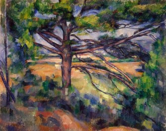 Large Pine and Red Earth 1895 Paul Cezanne