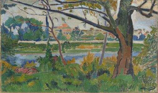 The Seine at Chatou Andre Derain