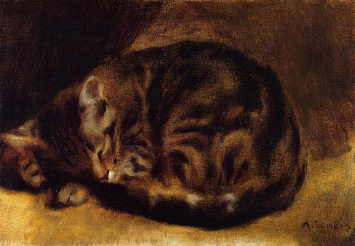 pierre-auguste-renoir-sleeping-cat-1862