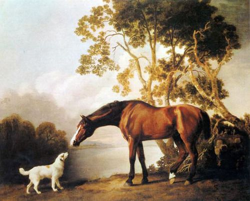 george-stubbs-bay-horse-and-white-dog