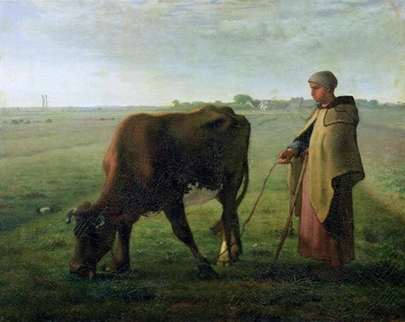 jean-francois-millet-woman-grazing-her-cow