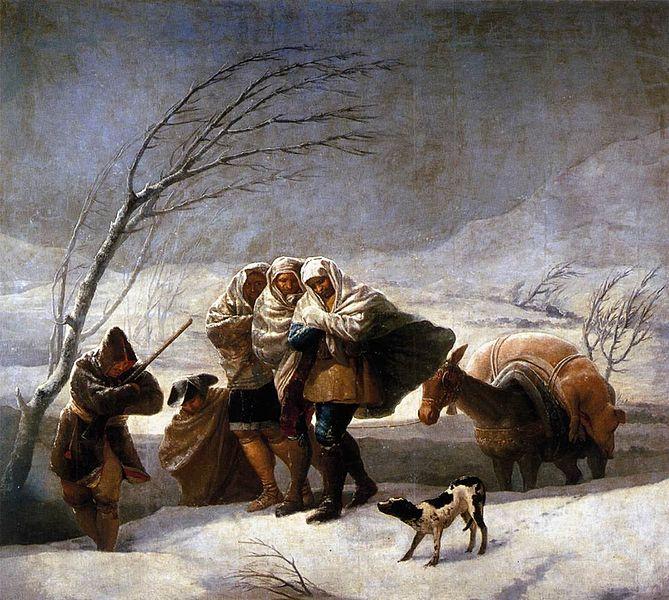 Francisco de Goya The_Snowstorm 1786